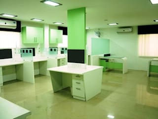 Co-operative Bank, Bhubaneswar Moderne Bürogebäude von Schaffen Amenities Private Limited Modern