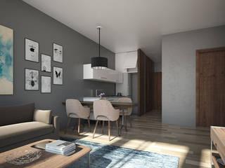 Sala / comedor:  de estilo  por Aflo Arquitectos