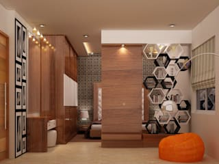 Salas de estar modernas por Schaffen Amenities Private Limited Moderno