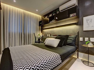 Dome arquitetura Modern style bedroom Grey