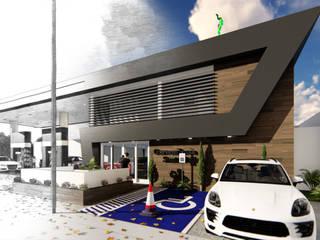 Projeto Posto de Combustiveis JE: Espaços comerciais  por Atemporal Arquitetura,Moderno