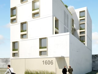 Vista exterior: Casas de estilo minimalista por HMJ Arquitectura