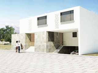 Vista exterior: Garajes de estilo minimalista por HMJ Arquitectura