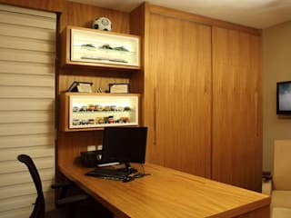 Escritório Residencia Alphaville Residencial 9 Studio 262 - arquitetura interiores paisagismo Escritórios modernos