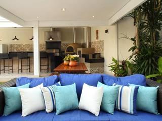 Área Gourmet Residência Alphaville Residencial 4 Studio 262 - arquitetura interiores paisagismo Garagens e edículas rústicas