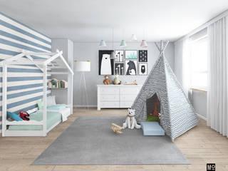 Pokój chłopca w domu pod Warszawą: styl , w kategorii  zaprojektowany przez Modeco Creative Studio