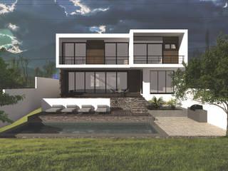 Jardín y fachada : Casas de estilo  por Bloque Arquitectónico