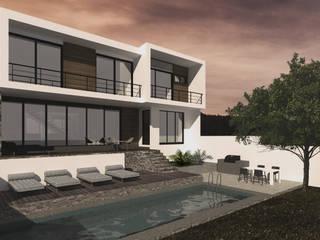 Jardín trasero : Casas de estilo  por Bloque Arquitectónico