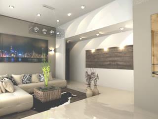 CORREDOR PRINCIPAL: Salas de estilo  por OLLIN ARQUITECTURA