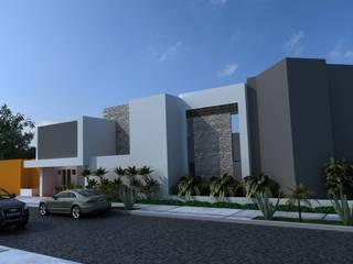 FACHADA PRINCIPAL : Casas de estilo  por OLLIN ARQUITECTURA