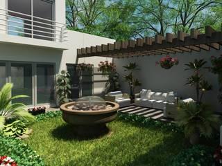 AREA JARDIN: Jardines de estilo  por OLLIN ARQUITECTURA