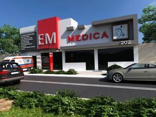 """CLINICA DE EMERGENCIAS """"EM MEDICA"""" : Casas de estilo  por OLLIN ARQUITECTURA"""