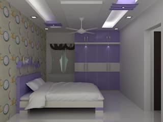 splendid interiors bedroom designs:   by Splendid Interior & Designers Pvt.Ltd