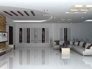 splendid interiors hall designs:   by Splendid Interior & Designers Pvt.Ltd