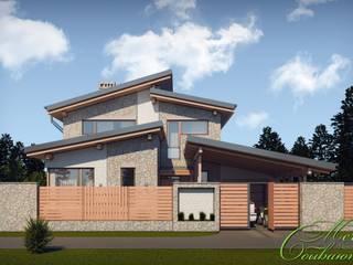 Maisons coloniales par Компания архитекторов Латышевых 'Мечты сбываются' Colonial