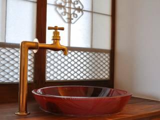 手洗い: カワサキジムショが手掛けた洗面所&風呂&トイレです。