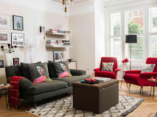 'Designed for living' - Whitehall Park Residential SWM Interiors & Sourcing Ltd Вітальня