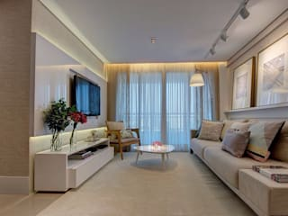 Apartamento TB Salas de estar modernas por Dome arquitetura Moderno
