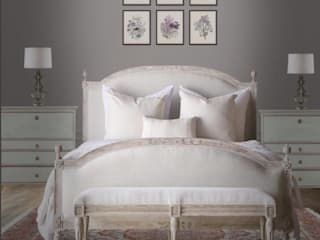 VISUALIZED PROJECTS Rustic style bedroom by Devyani Kumari Lifestyle & Designs Rustic