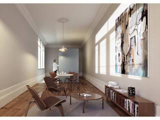 Salones de estilo minimalista de a*l - alexandre loureiro arquitectos Minimalista