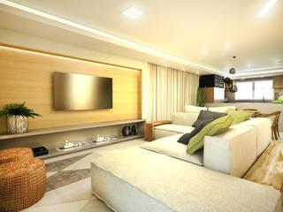 apartamento duplex FRPS: Salas de estar  por ecco! archi sudio