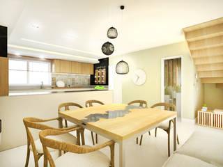 apartamento duplex FRPS: Salas de jantar  por ecco! archi sudio