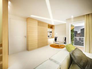 apartamento duplex FRPS: Escritórios  por ecco! archi sudio