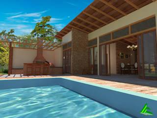 Casa da Serra Piscinas modernas por Arktectus Arquitetura Sustentável Moderno