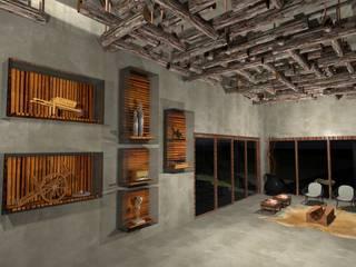 Pousada: Casas  por Nadia Dickel interiores,Campestre