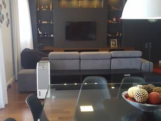 Apartamento Dream View: Salas de estar  por Bel e Tef Atelier da Reforma