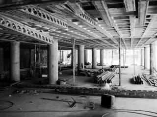 MV Oficinas de estilo moderno Concreto