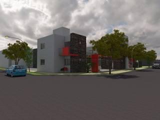 Complejo MF: Casas de estilo  por Gastón Blanco Arquitecto,Moderno