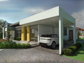 Casa Campestre Villa Celeste Garajes de estilo moderno de Arquitecto Pablo Restrepo Moderno
