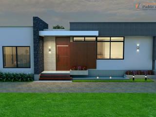 Casa Campestre Tropical Moderno Casas modernas de Arquitecto Pablo Restrepo Moderno
