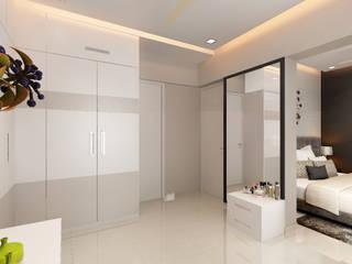 walkin wardrobe Modern style bedroom by homify Modern