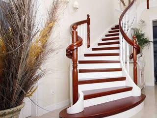 Drewniane schody ba neton: styl , w kategorii  zaprojektowany przez Schody PL