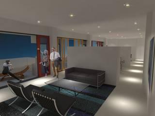 Interieur Woning 1: moderne Woonkamer door architectuurstudio Kristel