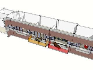 Exterieur met nieuwe balkons Woning 1:   door architectuurstudio Kristel