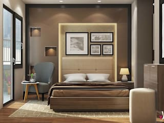 Grab Top Bedroom Interior Design Ideas in Delhi NCR – Yagotimber. Eclectic style bedroom by Yagotimber.com Eclectic