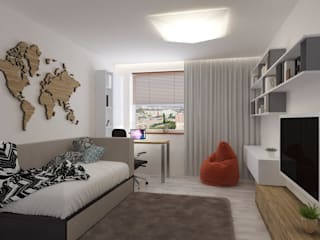 Tatianin Park Modern Bedroom by Anastasia Yakovleva design studio Modern