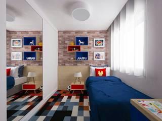 Cuartos de estilo  por Cris Vieira Arquitetura e Design, Moderno
