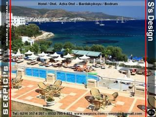 SERPİCİ's Mimarlık ve İç Mimarlık Architecture and INTERIOR DESIGN Hotel Modern Blue