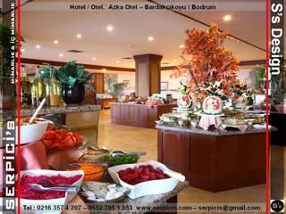 SERPİCİ's Mimarlık ve İç Mimarlık Architecture and INTERIOR DESIGN Hotel moderni PVC Marrone