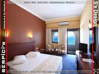 SERPİCİ's Mimarlık ve İç Mimarlık Architecture and INTERIOR DESIGN Hotel Modern Komposit Kayu-Plastik Brown