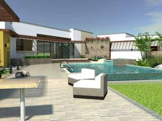 สระว่ายน้ำ by Arquitecto Pablo Restrepo