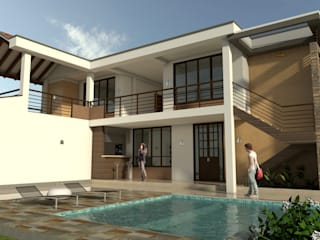 Casa Campestre Horizonte Piscinas de estilo clásico de Arquitecto Pablo Restrepo Clásico
