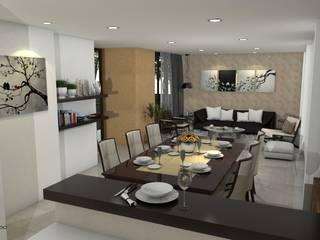 Diseño interior de sala, comedor Comedores de estilo clásico de Arquitecto Pablo Restrepo Clásico