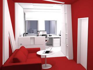 Pomieszczenie biura firmy z Łodzi: styl , w kategorii Przestrzenie biurowe i magazynowe zaprojektowany przez DCODE Emilia Krysińska,