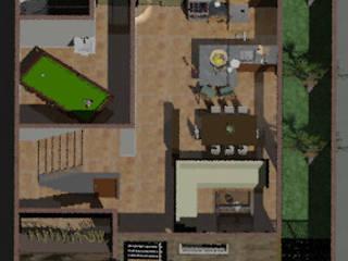 Construcción de casa habitación:  de estilo  por GRUPO CONSTRUCTOR VALLES