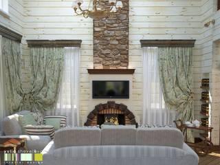 Country style living room by Мастерская интерьера Юлии Шевелевой Country